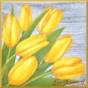 Serwetka do decoupage żółte tulipany
