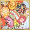 Serwetka do decoupage kolorowe pisanki