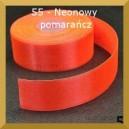 Tasiemka satynowa 38mm kolor 55 neonowy pomarańcz 2mb