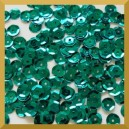 Cekiny 8mm łamane zielone butelkowe metaliczne