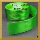 Tasiemka satynowa 38mm kolor 102 zieleń trawiasta 2mb