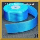 Tasiemka satynowa 38mm kolor 112 neonowy niebieski 2mb