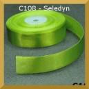 Tasiemka satynowa 38mm kolor C108 seledyn 2mb
