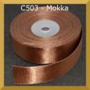 Tasiemka satynowa 38mm kolor C503 mokka 2mb