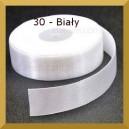 Tasiemka satynowa 25mm kolor 30 biały