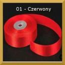 Tasiemka satynowa 38mm kolor 1 czerwona 2mb