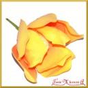 Kwiat MAGNOLII duży POMARAŃCZOWY 1szt.