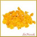 Kwiatuszki materiałowe MARGARETKI żółte 4CM