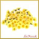 Kwiatuszki materiałowe RUMIANEK żółty  2,5CM