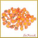 Kwiatuszki materiałowe RUMIANEK pomarańczowy 2,5CM