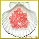 Koraliki kryształki różowy 50g