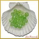 Koraliki kryształki zielone 50g