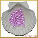 Perełki 10mm 50g fioletowe przeźroczyste