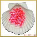 Perełki 10mm 50g różowe przeźroczyste