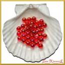 Perełki 10mm 50g czerwone opalizujące
