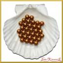 Perełki 10mm 50g złoto-brązowe perłowe