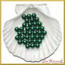 Perełki 10mm 50g ciemne zielone perłowe