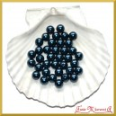 Perełki 10mm 50g granatowe perłowe