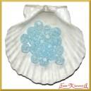 Koraliki kryształki zimny błękit 50g