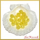 Koraliki kryształki żółte 50g