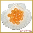 Koraliki kryształki pomarańczowe 50g