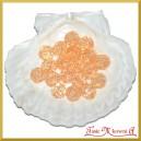 Koraliki kryształki jasny pomarańcz 50g