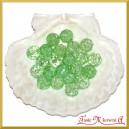 Koraliki kryształki zielone ciemne 50g