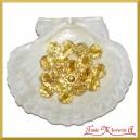 Koraliki kryształki stare złoto 50g