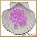 Koraliki kryształki purpura 50g