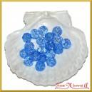 Koraliki kryształki niebieskie 50g