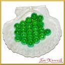 Perełki 14mm 50g zielone opalizujące