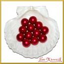 Perełki 18mm 50g bordowe perłowe