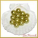 Perełki 18mm 50g oliwkowe perłowe