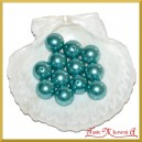 Perełki 18mm 50g błękitne perłowe