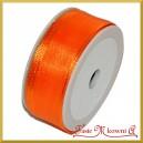 Tasiemka szyfonowa z drutem 25mm/20mb pomarańczowa