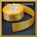 Tasiemka satynowa 25mm kolor C24 Pomarańczowo-ruda