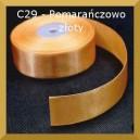 Tasiemka satynowa 25mm kolor C29 Pomarańczowo-złota