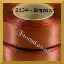 Tasiemka satynowa 25mm kolor 8134 brązowy