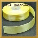 Tasiemka satynowa 25mm kolor 104 Kanarkowa