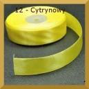 Tasiemka satynowa 25mm kolor 12 Cytrynowa