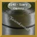 Tasiemka satynowa 25mm kolor 8140 szary ciemny