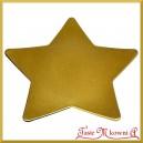 Talerz dekoracyjny GWIAZDA złota 28cm/28cm  1szt.