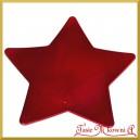 Talerz dekoracyjny GWIAZDA czerwona 28cm/28cm  1szt.