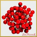 Jagódki czerwone na druciku 10cm/1szt. (na gałązce 8 owoców)