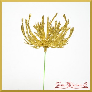 Gałązka brokatowa ozdobna złota - rafa koralowa 16cm/1szt.