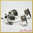 Podstawki pod wkłady tealight SREBRNE 4szt./42mm