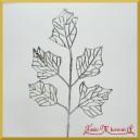 Liść ozdobny brokatowy srebrny 39cm 242813