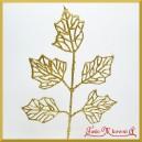 Liść ozdobny brokatowy złoty 39cm 242812