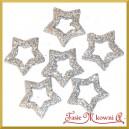 Gwiazdki brokatowe srebrne 3,5cm/48szt. PUDEŁKO