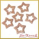 Gwiazdki brokatowe cappucino 3,5cm/48szt. PUDEŁKO